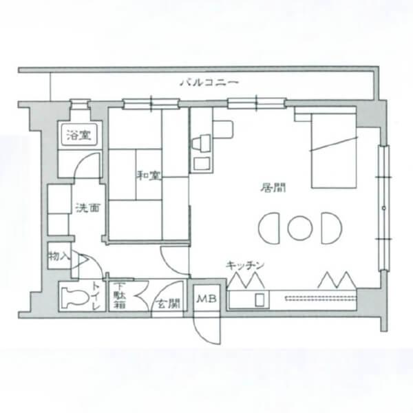 大阪 家具付き賃貸 ラメール北大阪 1LDKタイプ