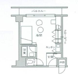ラ・メール北大阪(北西角部屋)